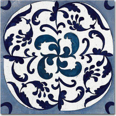 Trademark Fine Art Coast Lines I Indigo and Cream Canvas Art by Silvia Vassileva, Blue