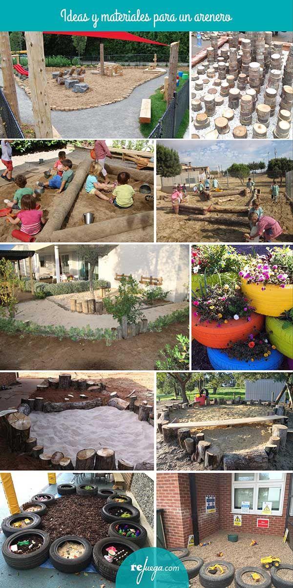 Ideas de areneros para el patio de infantil. Ideas diferentes para estimular el juego libre y el aprendizaje