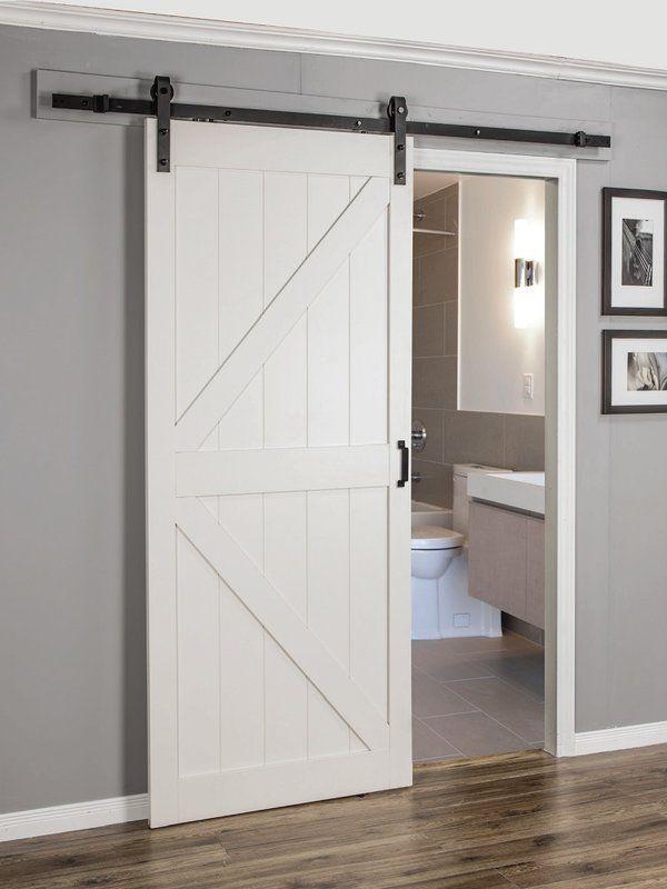 Paneled Manufactured Wood Finish Continental Barn Door With Installation Hardware Kit In 2020 Barn Door Designs Sliding Doors Interior Wood Doors Interior
