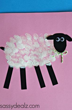 Fingerprint Sheep Craft for Kids - Sassy Dealz