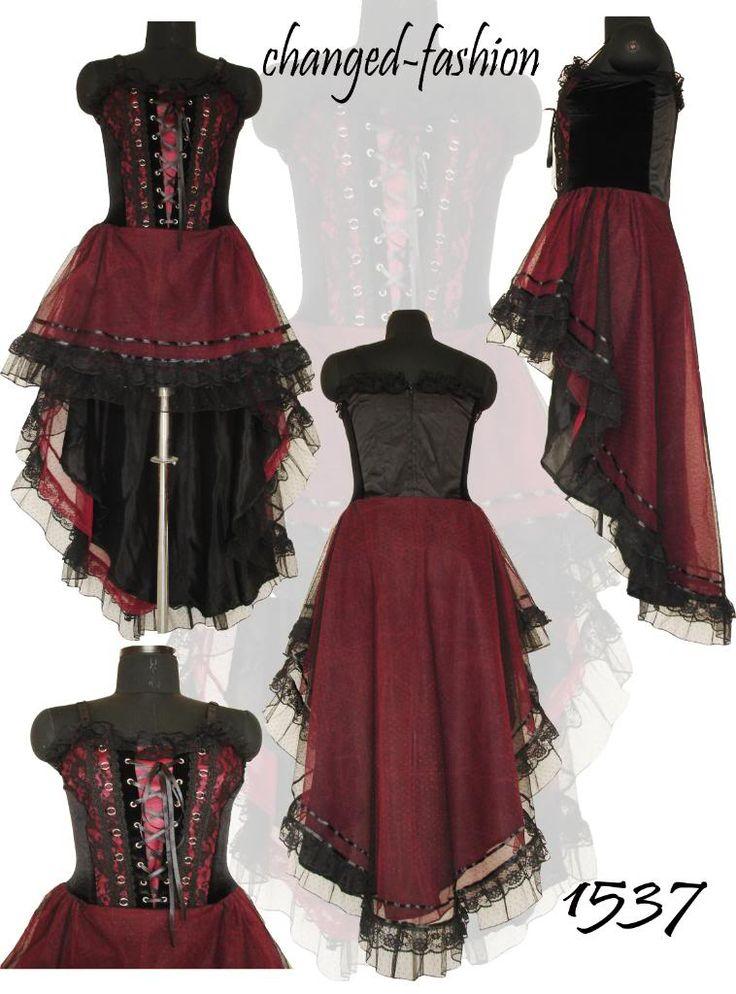 Gothic Corset Dress Long Black Prom Sexy Sale1537 S M