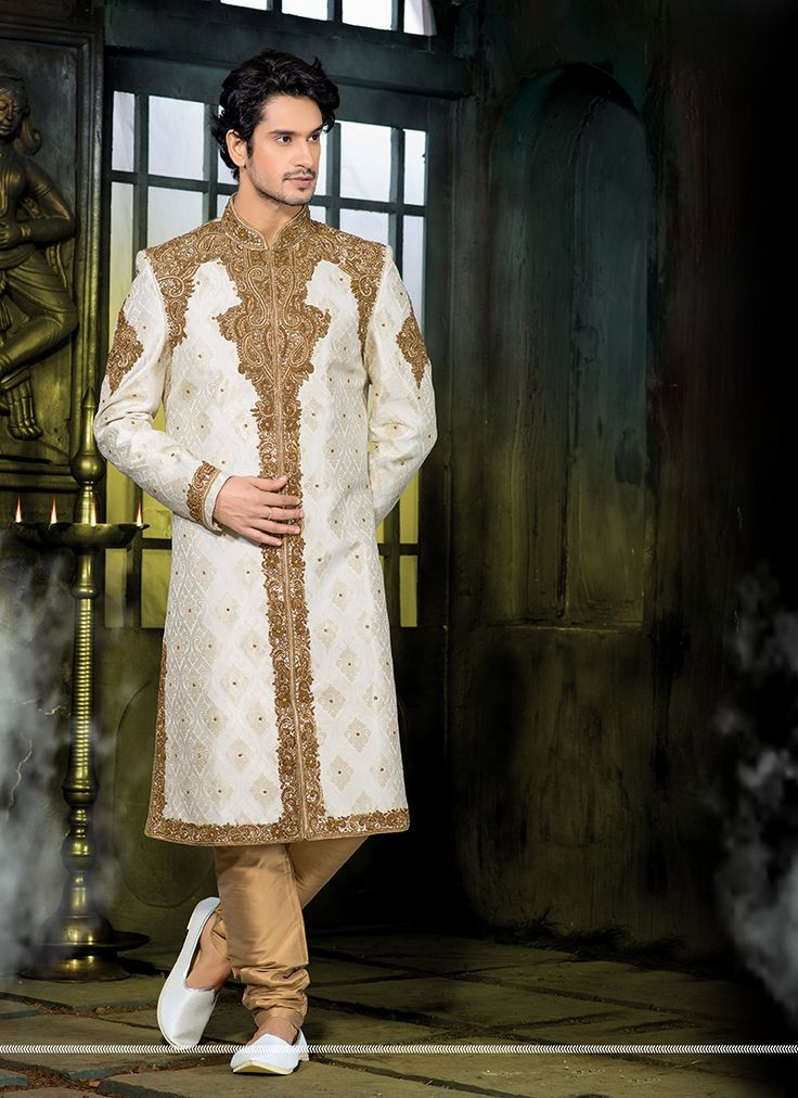 #Wedding Wear Wholesale #Sherwani Shopping India  Buy Now @ http://www.suratwholesaleshop.com/wholesale-sherwanis-collection-with-pure-silk-2725?view=catalog