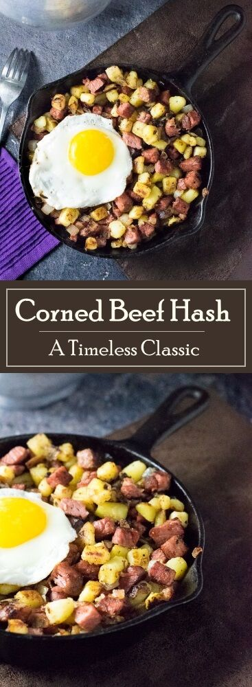 Corned Beef Hash Recipe -  A timeless Irish classic via @foxvalleyfoodie