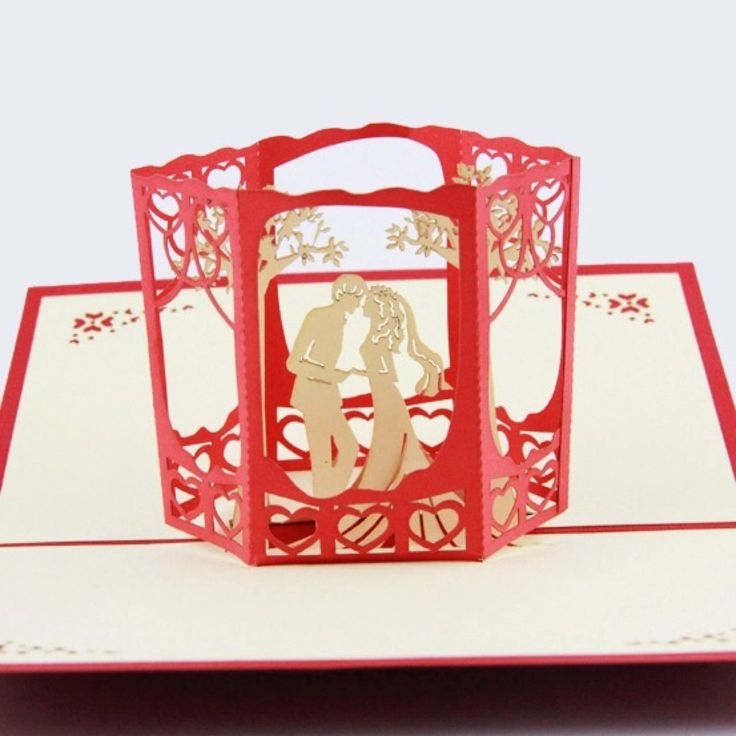 Hand made, customised 10 piece 3D Wedding Pop-Up Invitations (4 Designs to choose from.)