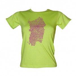 T-shirt Island Print Donna pistacchio