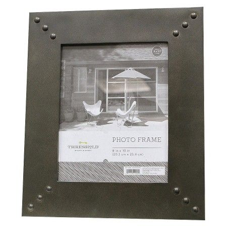 """8""""x10"""" Flat Frame with Printed Texture and Metal Rivets - Threshold™ : Target"""