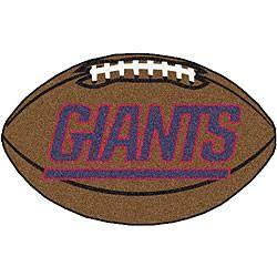 New york Giants football shaped mat