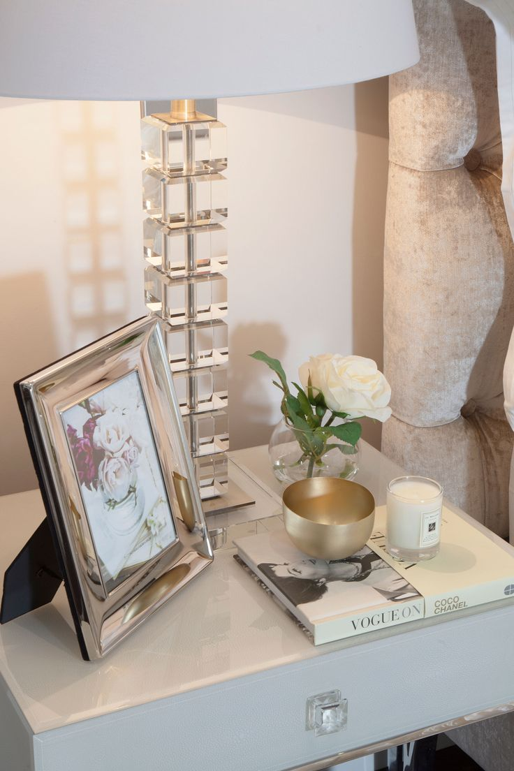 Bedside glass table lamp | JHR Interiors