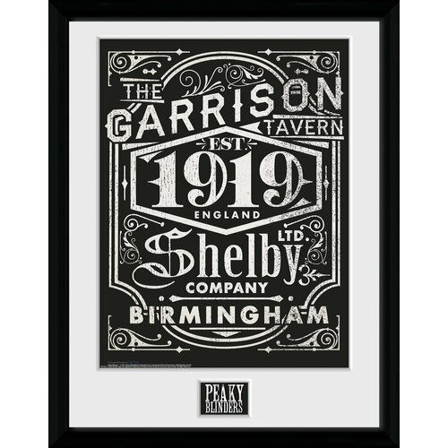 'Peaky Blinders Shelby' Framed Graphic Art Print 17 Stories