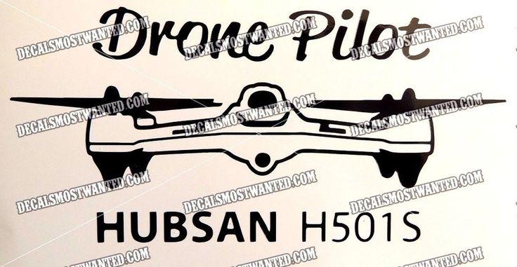 Drone Hubsan  DRONE PILOT  decal sticker UAV car window die cut vinyl