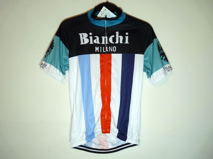 Bianchi Milano unbranded cycling jersey maillot cycliste - NWT - Large
