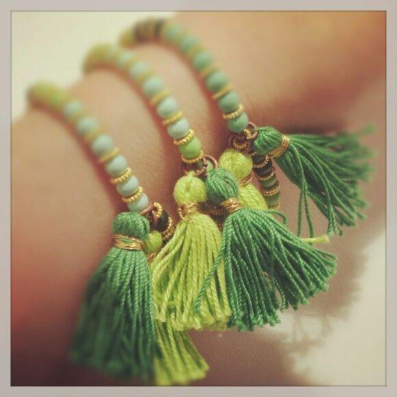 Bracelet with tassels
