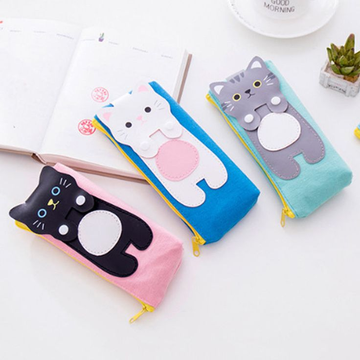 Cute Cartoon Cat Makeup Cosmetic Storage-Bag Student-Pencil Case Bags Nice New  | eBay