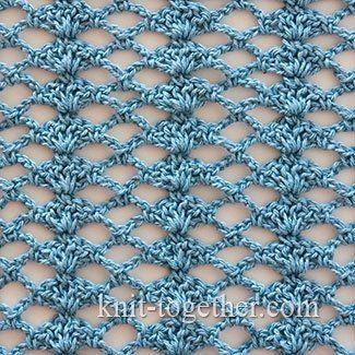 Crochet Shell Stitch and Mesh - detailed description and crochet chart  #crochet…