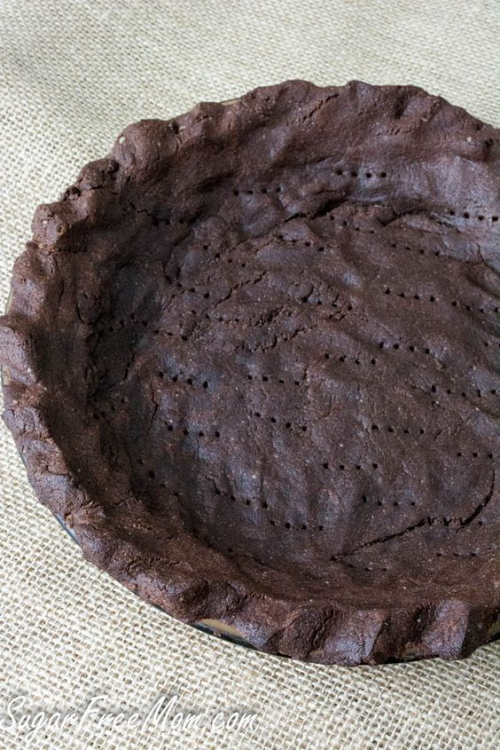 Nut Free, Low Carb Chocolate Pie Crust. Almond flour is a good option too chocolate grain free crust-