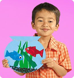 """This colorful fishbowl craft lets children """"dive"""" into one of Dr. Seuss's all-time classic stories! (preschool–second grade)"""