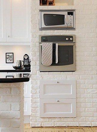 Ladrillo visto blanco en la cocina ladrillo visto - Ladrillo visto precio ...