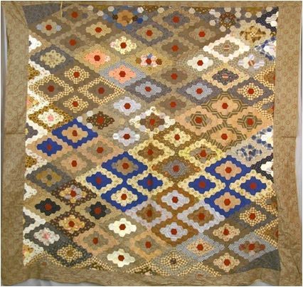 347 best images about historical quilts and blocks on pinterest civil wars antique quilts and for Grandmother flower garden quilt pattern variations