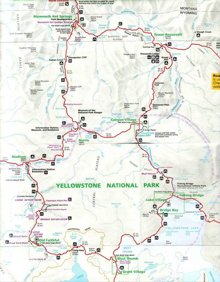 Gorgeous Yellowstone Map Ideas On Pinterest Yellowstone - Us map yellowstone national park