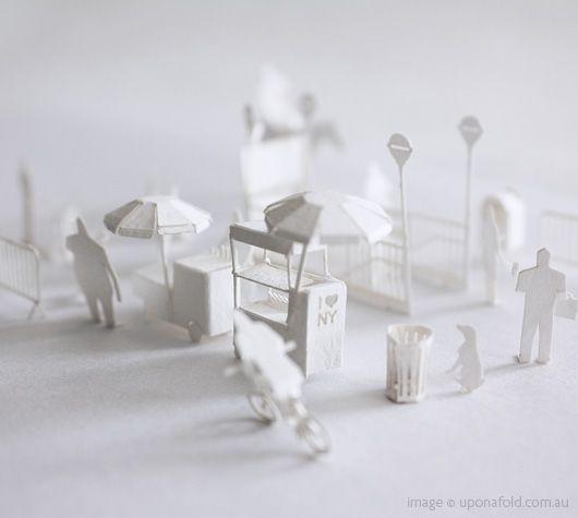 NYC paper model set.