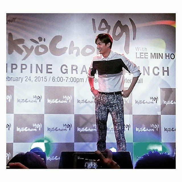 Lee Min Ho - Kyochon Chicken Grand Opening Fun Meet Event Manila, Philippines - 24.02.2015