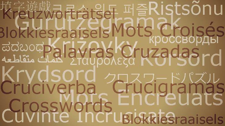 Palavras Cruzadas pelo mundo em 20 idiomas