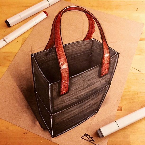 Cover my existing metal paper waste containers to loo like this bag & add leather handles.