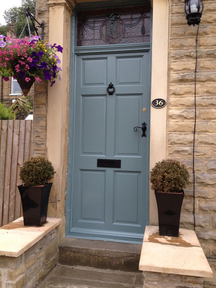 My new front door! Farrow and Ball Oval Room Blue