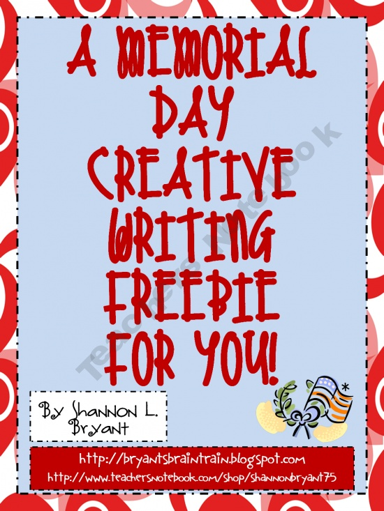 Memorial Day Writing FREEBIE