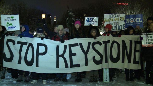 VIDEO: 350.org & Indigenous Groups Hold Vigils to Block Keystone XL Tar Sands Oil Pipeline
