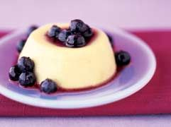Lemon custards with fresh #blueberry sauce, from Mayo Clinic
