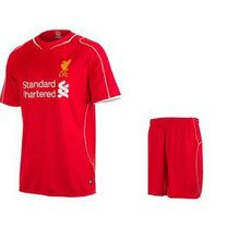 14-15 Liverpool Football Shirt Home Red Replica Jersey Kit(Shirt+Short) [A496]