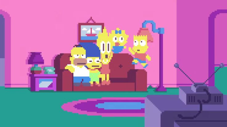 Fan-made Simpsons intro, crafted in pastel pixel art, feels as fresh and strange as a three-eyed fish.
