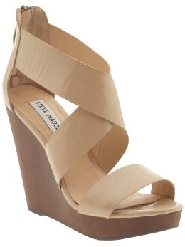 Steve Madden wedges in blush patent only $69.50 at #Piperlime