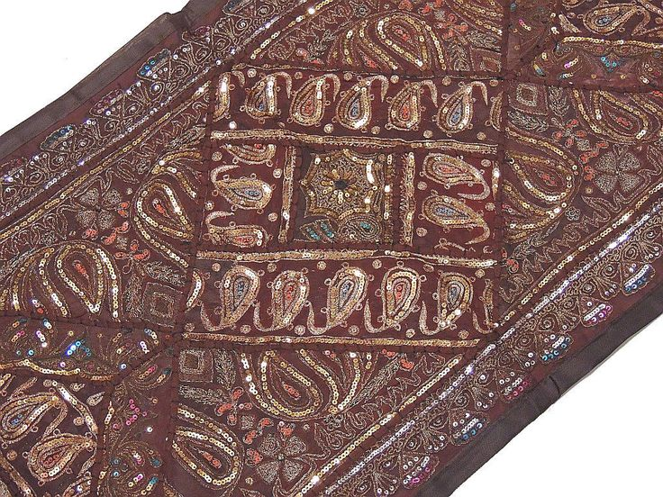 Beaded Table Runner Handmade Indian Embroidered Classical Tapestry | EBay
