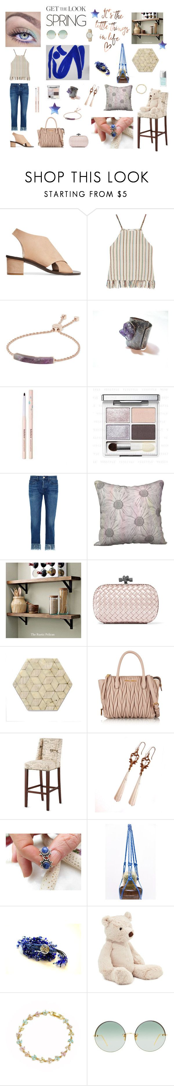 """""""Smell of Spring"""" by xena-style ❤ liked on Polyvore featuring All Tomorrow's Parties, Miguelina, Monica Vinader, 3x1, Rustico, Bottega Veneta, Dessous, Miu Miu, Improvements and Jellycat"""