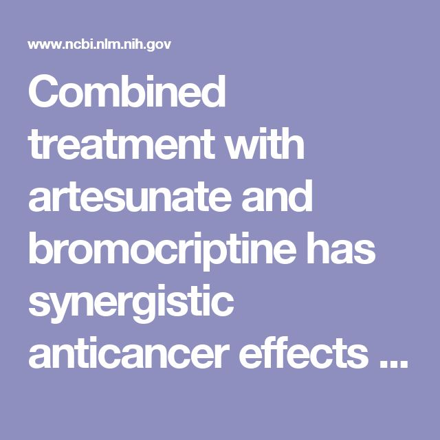 Combined treatment with artesunate and bromocriptine has synergistic anticancer effects in pituitary adenoma cell lines.  - PubMed - NCBI