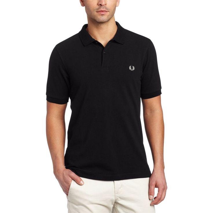 Fred Perry Men Tshirts Plain Polo Shirt Black #FREDPERRY #PLAINPOLOSHIRT