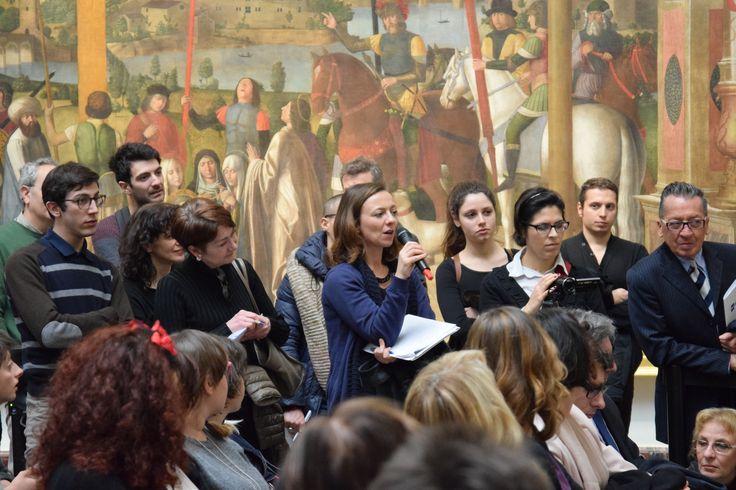 Spazio alle domande del pubblico e dei giornalisti #art #milano #pinacotecabrera #dariofo #rai5