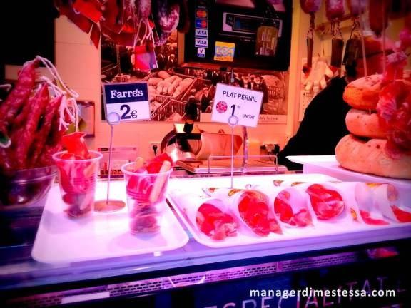 Boqueria, Barcelona, jamon serrano
