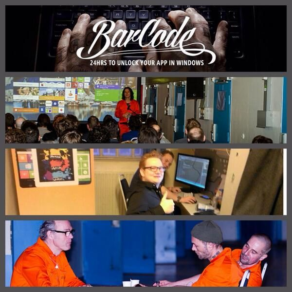 @BlastRadius: The past 24 hours @BlastRadius Amsterdam and @MicrosoftNL Nederland organized #24barcode in a former jail. Fearless. pic.twitter.com/aH3qYcKVrv
