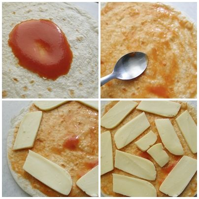 Pizzadilla = quesadilla de pizza | http://www.pizcadesabor.com/2011/09/24/pizzadilla/