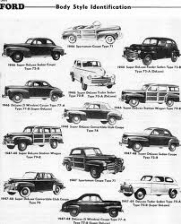 ford cars    around 1950