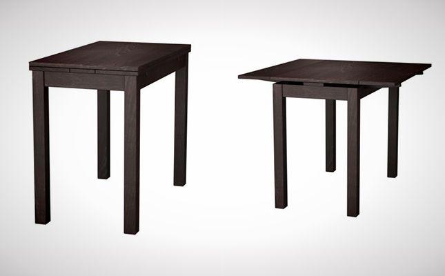 BJURSTA Table (Ikea) - 10 Space-Saving Dining Tables via Brit + Co.