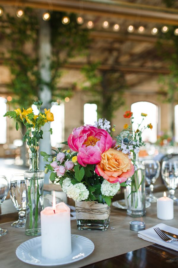 Eclectic Wedding At Hudson Pocketbook Factory. Used Wedding SuppliesPeonies  ...