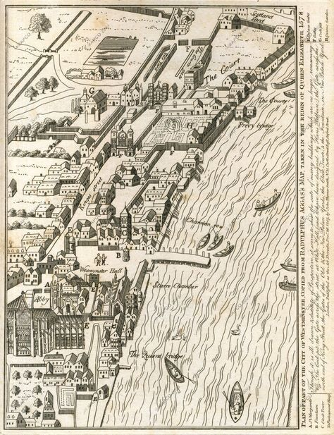 City Of Westminster, 1578 In the top right hand corner you can see 'Scotland Yard'.