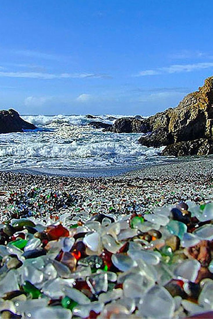 Glass Beach, Fort Bragg California! Click through to see 15 of the most unique and awesome beaches in the world!