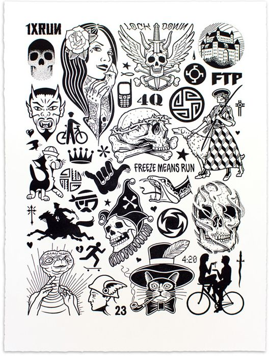 Mike Giant - Modern Hieroglyphics | Available now £125 (+P&P) http://print-temple.com/mike-giant-modern-hieroglyphics/