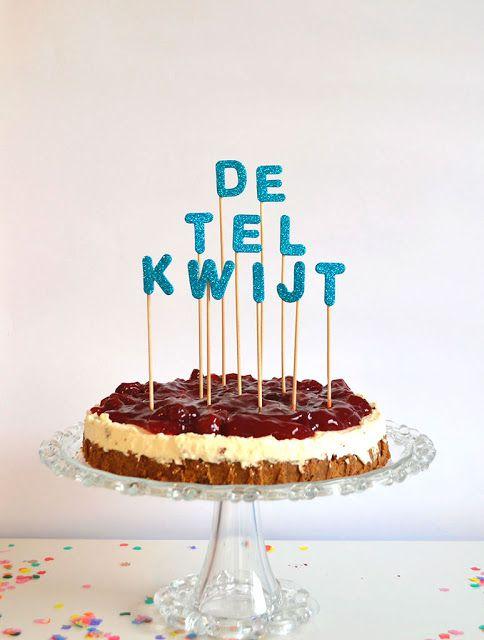 diy: cake topper: de tel kwijt