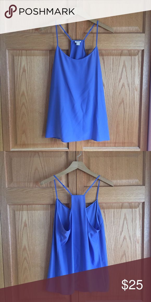 🆕 J.Crew Factory Periwinkle Racerback Cami Cute basic cami from J.Crew Factory. Great layered or worn alone - I love this with a camel colored blazer! True to size. Excellent pre-loved condition! ❌NO TRADES❌NO LOWBALL OFFERS❌ J. Crew Tops